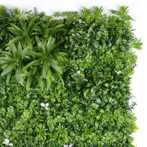 Pared de plantas artificiales